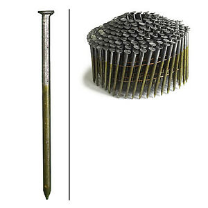 Framing Nails Wire Coil Smooth Brite 3 in X 120 2 500 ct
