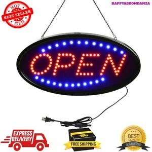 Open Led Sign Business Open Signage Include Hours Advertisement Store Decoration