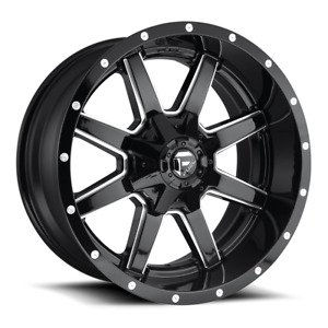 4 20x10 Fuel D610 Gloss Black Maverick Wheels 6x135 6x139 7 For Toyota Jeep