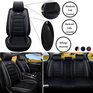 17pc Universal Car Seat Cover Full Set Cushion Full Coverage Front Backrest Side