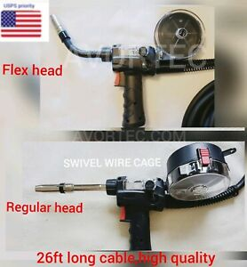 Mig Spool Gun Flex Head Regular Head 200 Amp For Avortec Welders Other Brand