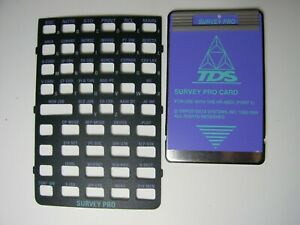 Tds Survey Pro Card With Overlay For The Hp 48gx port 1
