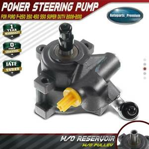 Power Steering Pump W o Pulley For Ford F 250 350 450 550 Super Duty V8 6 4l