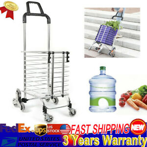 Urban Stair Climbing Cart 8 Wheel Trolley Folding Laundry Shopping Cart Handcart