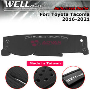 Dash Mat Dashboard Cover Black For Toyota 2016 2020 Tacoma Wellvisors 3 886ty020