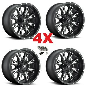 20x10 Black Wheels Rims Fuel Throtle Method Xd Grid Tis