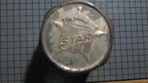 Vintage Brass Star Hub Cap Original Emblem Dust Grease Cover Durant