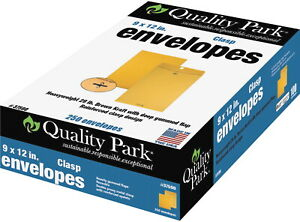 Quality Park Clasp Envelopes In Dispenser 9 X 12 Inches Kraft Brown Pack Of
