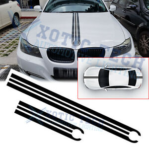 Front Hood Rear Trunk Racing Strip Car Body Vinyl Trim Decals Stickers For Bmw