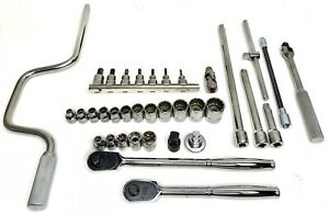 New Jh Williams 3 8 inch Drive Socket Super Set With Multiple Wrenches Etc