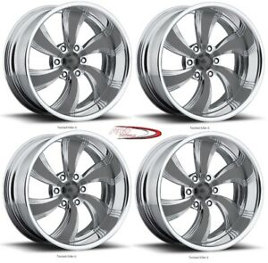 Pro Wheels Twisted Killer 6 20 Polished Aluminum Billet Wheels Rims set Of 4