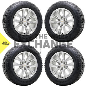 20 Chevrolet Silverado 1500 Truck Wheels Rims Tires Factory Oem Set 4 2019 2020