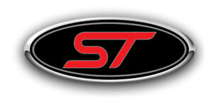 New Ford Focus St Rs Fiesta St Design Logo Overlay Decals 3pc Kit Blk Red