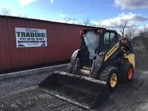 2012 New Holland L225 Skid Steer Loader W Cab 2 Speed Only 1600 Hours