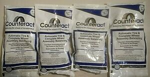 Counteract Tire Balancing Beads 4 Packs Of 12 Oz 340 Grams Valves And Caps