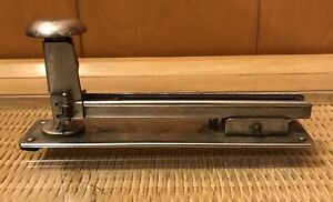Vintage Markwell Rf1 Stapler 1930s Metal Industrial Commercial Long Heavy 8