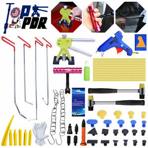 Pdr Rods Push Tools Paintless Car Dent Repair Puller Lifter Tab Hail Rmeoval Kit