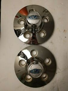 Vintage Cragar Metal Wheel Center Caps For Ford 14 29141 15 29151 set Of 2