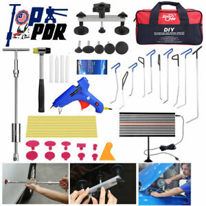Pdr Car Paintless Dent Repair Puller Lifter Removal Hail Rods Dent Hammer Tools