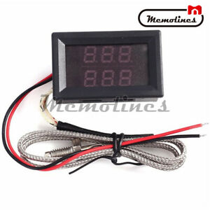 Dual Led K type Thermometer Thermocouples High Temperature Sensor Probe Tester
