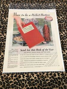 COCA COLA Ad Advertisement VINTAGE Post 1932 HOW TO BE A PERFECT HOSTESS c458
