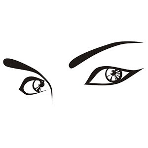 Die Cut Vinyl Decal Sexy Mysterious Eyes Diy Graphics 20 Colors Car Truck 383