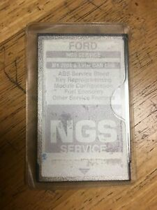 Ford Ngs New Generation Star Diagnostic Card Gray My 2005 Later Can Link