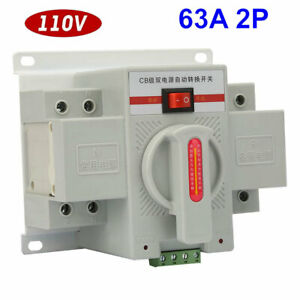 New Industry Dual Power Automatic Transfer Switch 2p 63a 110v 220v Toggle Switch