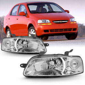 04 06 Chevy Aveo factory Style Replacement Headlight Lamp Left right Side Set