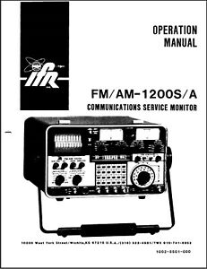 Ifr Fm am 1200s a Communications Monitor Service Manual On Cd