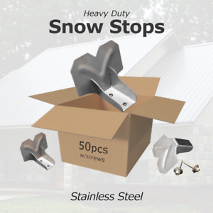 Heavy Duty Stainless Steel Snow Stops Guards Metal Roof 50 Pack W screws