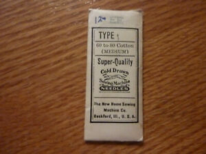 Nip Nos 3 Pack New Home Ee Type I Medium Cold Drawn Quality Sewing Needles