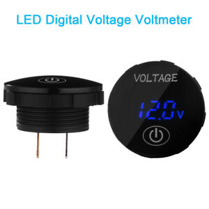 Led Panel Voltmeter Motorcycle Voltage Digital Display Gauge Touch Switch Ma2128