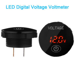 Led Voltmeter Car Motorcycle Voltage Digital Display Gauge Touch Switch Ma2129