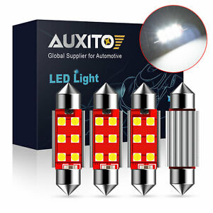 4x Auxito Canbus Error Free 41mm 578 211 2 42mm Festoon Led Interior Light Bulb
