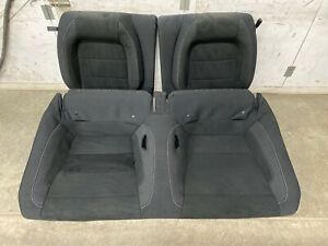 2016 2019 Mustang Shelby Gt350 Coupe Rear Seats Black Cloth Suede Oem