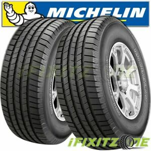 2 Michelin Defender Ltx M s All Season 255 65r16 109t White Letter Suv Tires