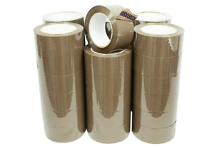 36 Rolls Tan Packing Tapes 2 Wide X 110 Yards 2mil Thick
