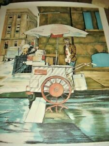 COCA COLA NEW YORK STREET VENDOR LITHOGRAPH WILLIAM NELSON SIGNED ONLY 500 MADE