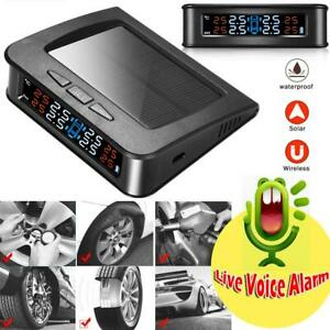 Solar Wireless Tpms Human Voice Alarm Car Tyre Pressure Monitoring System N s7
