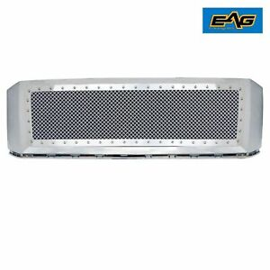 Eag Fit 07 14 Ford Expedition Grille Rivet Chrome Steel Mesh Front Hood Shell