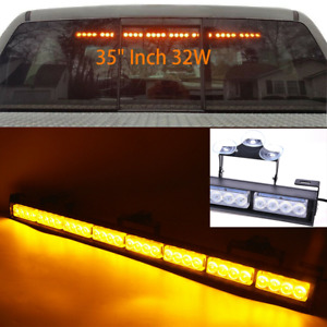 34 32led Amber Emergency Traffic Adviser Directional Arrow Strobe Light Bar Us