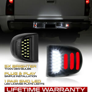 1999 2013 Chevy Silverado Led Smd Red Sequence Light Tube License Plate Lights