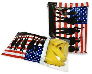 10x13 12x15 U s Soldier Patriotic Poly Mailers Custom Flag Shipping Envelopes