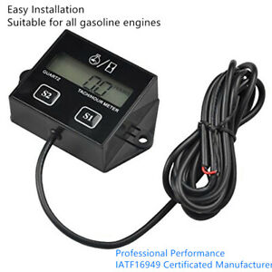 Digital Rpm Tach Hour Meter Tachometer Gauge For Motorcycle Dirt Bike 2 4 Stroke