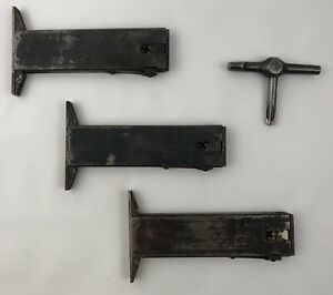 Lot Of 3 Large Letterpress Typeset Printing Hi speed Lock Quoins With Key