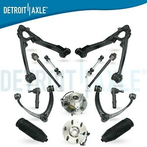 4wd 14pc Front Upper Lower Control Arms Wheel Hub For 07 13 Chevy Silverado 1500