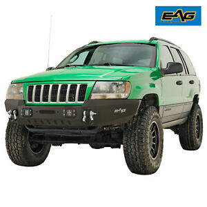 Eag Assembled Front Bumper With Led Lights Fit 99 04 Jeep Grand Cherokee Wj