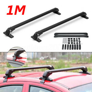 47 Aluminum Car Top Roof Luggage Rack Cross Bar Carrier Adjustable Window