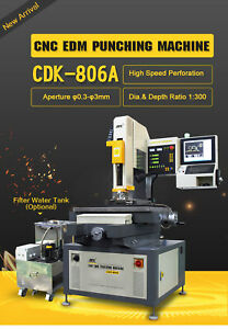 Cnc 3 Axis Edm Small Hole Drilling Machine Hole Popper Hole Driller Puncher